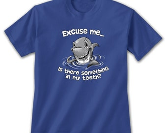 Excuse Me Shark Kids T-Shirt, Funny Dentist Jaws Sharknado Shark Week Shirt Nature Lovers Marine Life Shallow Water Ocean Beach Summer Tee