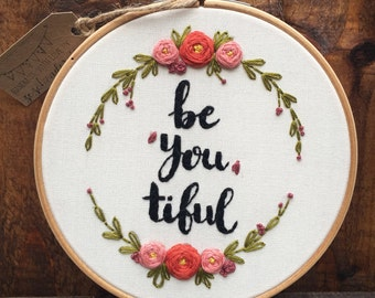 Embroidery hoop,Embroidery art,Floral embroidery,Modern embroidery hoop art,Hand embroidery,Mother's day gift,Birthday gift