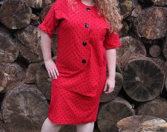 Red Rizzo Dress Fits size 10, 12