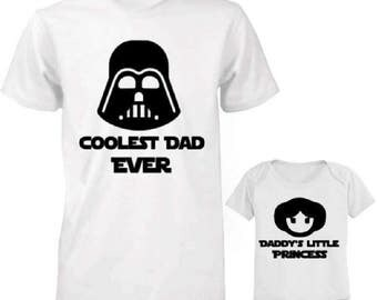 Star Wars Father Daughter Shirts,Coolest Dad and Dadys Little Girl Shirts,Fathers Day Shirt,Father Daughter Matching Shirts,Fathers Day Gift
