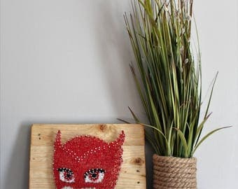 Owlette PJ Mask String Art - Nursery Decor - Kid's Room - Toddler Room