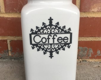 Vintage Canister, Coffee Canister, One-of-a-Kind Canister