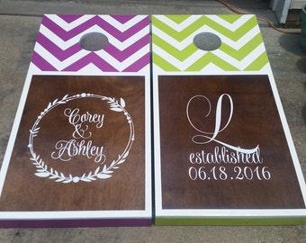 Custom Wedding Cornhole Sets