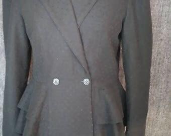 jacket short wool neck ball