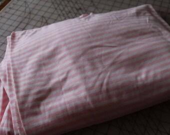 1 Pink and white stripe stretch knit beautiful Fabric 1