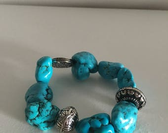 Turquoise Inspired Stretchy Braclet