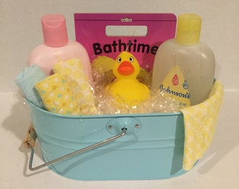 Bath- time baby gift basket