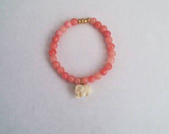 Elastic Pink Elephant Bracelet