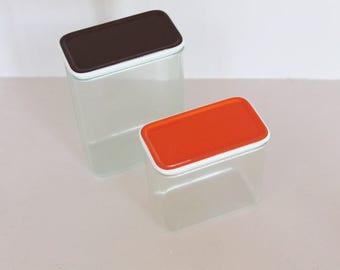 Boxes, food box, vintage box, tupperware, plastic box, garlic box, vintage tableware