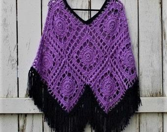 Crochet Versatile Poncho, Crochet Poncho, Fall wear, summer wear
