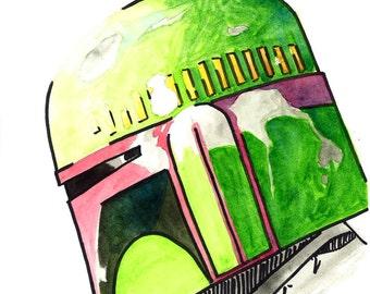 Star Wars Boba Fett original art print