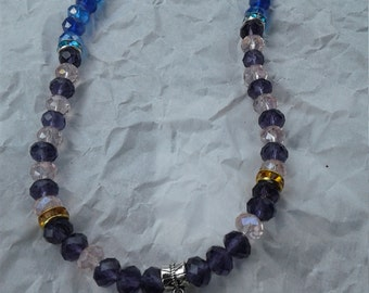 """Roundelle Crystal Bead 17"""" Necklace #1"""