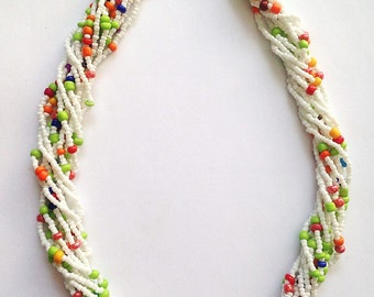 Beaded Necklace - African Beaded Choker -