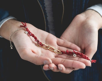 Chain and Beams Handmade Bracelet