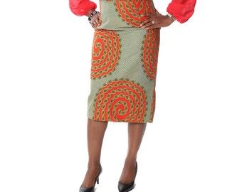 African print skirt,Ankara pencil skirt,African clothing,Ankara High Waist Pencil Skirt,Ankara Long Skirt