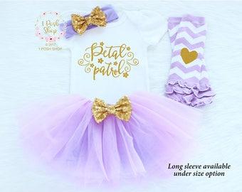 Flower Girl Headband, Flower Girl Outfit, Petal Patrol Shirt, Flower Girl Shirt, Flower Girl Gift, Rehearsal Dinner Gift, Wedding Gift FG1