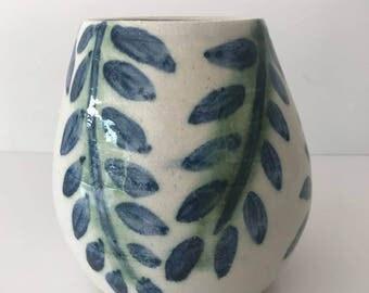 Wheel thrown Ceramic Vase   FREE SHIPPING