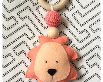 Lion Baby Teething Rattle Toy
