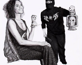 Ninja Sex Party Realism Drawing