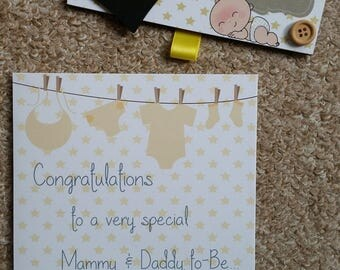 Baby Countdown Chalkboard + Matching Greetings Card