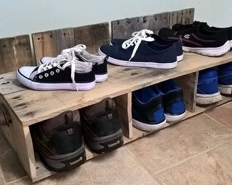 Rustic shoe rack