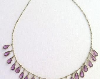 Edwardian fringe necklace