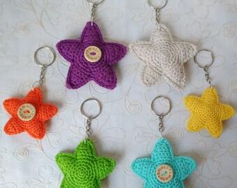 Crochet star keychain