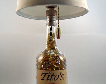 Tito's Vodka Bottle Lamp