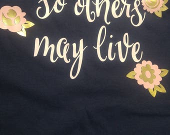 Pastel and Gold EMS State and So Others May Live Shirt