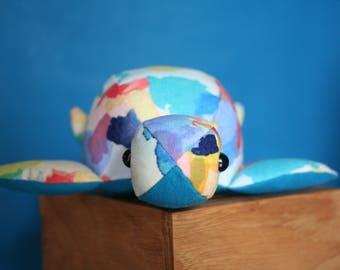 Handmade Soft Toy Turtle (small), plushie, babyshower gift, kidstoy, plush doll, children toys, handmade gift