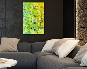 Giclee Print of modern abstract painting, spring colors, modern art, abstract art, modern painting, canvas wall art