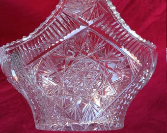 CLEARANCE Crystal Basket Bride's Vintage   #59