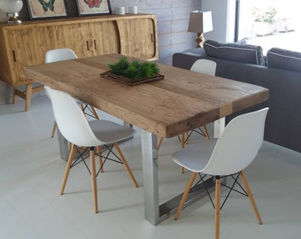 Recycled Elm Wood Table