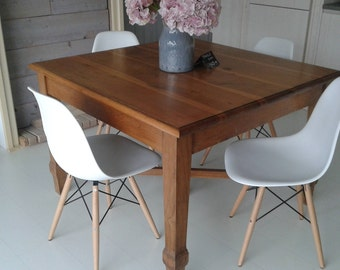 Oak italian table of the first '900