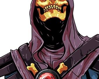 Vector Illustration - Skeletor - He-Man - Instant Download Digital File