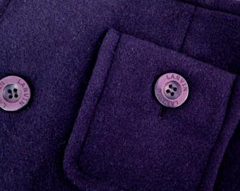 Vintage LANVIN COLLECTION purple fine wool wrap skirt