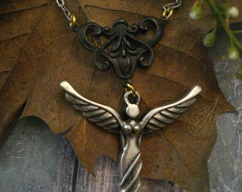 Silver Goddess Pendant Necklace