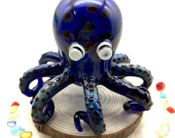 "Pristine Pipes ""Octopus"" Glass Smoking Pipe"