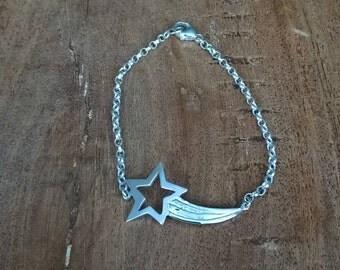 Sterling Silver Shooting Star Bracelet