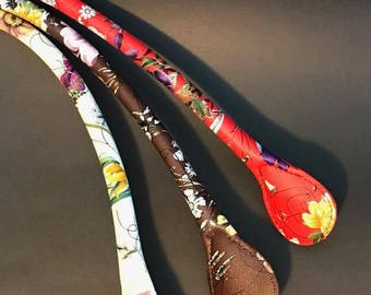 Handle with flower, CarryOn Handle, Obag Handle, Handbag Handle