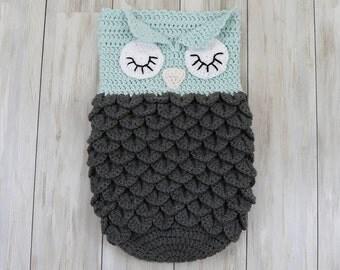 Little Dreamers Owl Cocoon Lined (Dark)