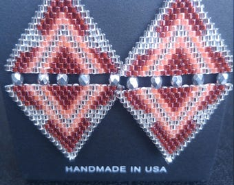 Native American Brick Stitch Earrings