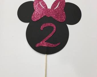 Minnie Mouse cake topper Minnie Mouse birthday Minnie Mouse decor Minnie Mouse celebration minnie party disney minnie mouse topper pink cake