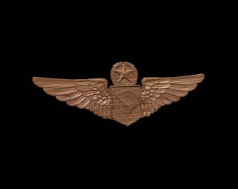 USAF Master Air Battle Manager Wings Air Force Retirement Promotion Wood Carving