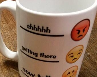15oz coffee mug - angry / happy