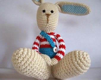 Long ear rabbit Lillelis pattern Crochet rabbit Amigurumi rabbit Bunny rabbit Free shipping