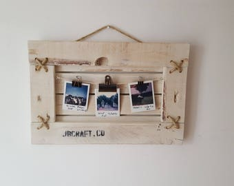 Hanging wide picture frame