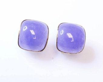 Vintage Purple Jade Earrings