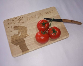 Cutting board / appetizer / tapas, mother's wooden grave laser and customizable.