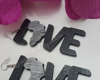 LOVE of Africa Statement Earrings